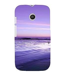 PrintVisa Travel Beach Art Design 3D Hard Polycarbonate Designer Back Case Cover for Motorola Moto E
