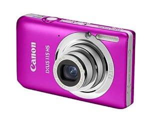 Canon IXUS 115 HS - Cámara Digital Compacta 12.1 MP (3 pulgadas LCD, 4x Zoom Óptico) - Rosa (importado)