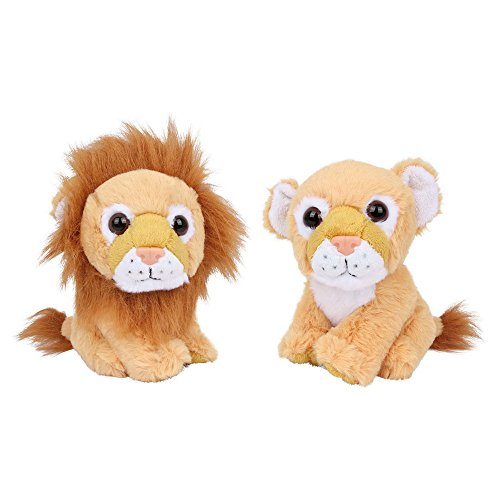 Small Foot Company - Coppia Di Leoni Peluche, Set da 2