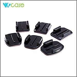 WoCase Flat and Curved Adhesive Mounts for GoPro HERO3+ 3 2 1 Cameras 6/Pack