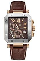Gc Swiss Chronograph Brown Leather Mens Watch G50001G1