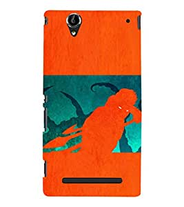 EPICCASE the monster Mobile Back Case Cover For Sony Xperia T2 (Designer Case)