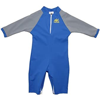 Shark Sun Protective Baby Suit by NoZone in Blue/Silver, 0-6 months