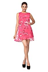 Purplicious Pink Floral Dress For Women