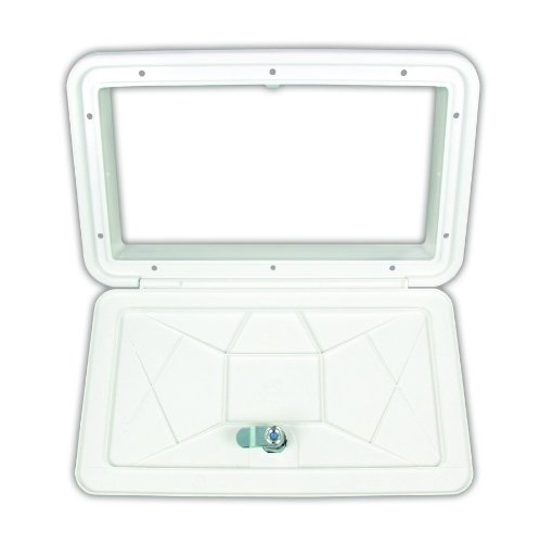 JR Products ZE102-A Polar White Large Key Lock Multi-Purpose Access Hatch (Rv Storage Door compare prices)
