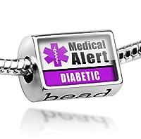 "Neonblond Beads Medical Alert Purple ""Epilepsy"" - Fits Pandora Charm Bracelet by NEONBLOND Jewelry & Accessories"