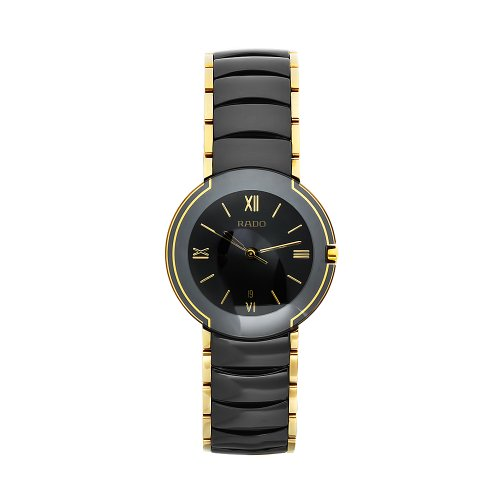 Rado Men's R22300182 Coupole Black Dial Ceramic Case Watch