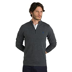 Fred Perry Mens Bradley Wiggins Half Zip Knit by Fred Perry