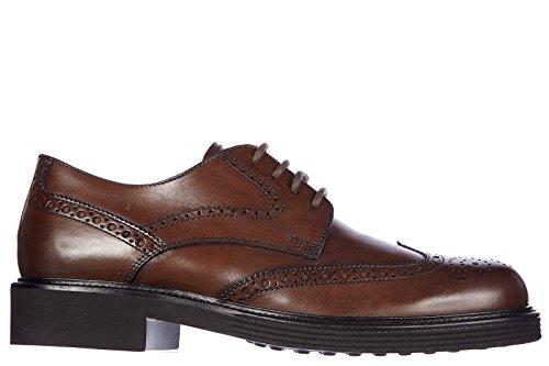 Tod's scarpe stringate classiche uomo in pelle nuove derby bucature fondo xl marrone EU 40.5 XXM0UE00C10D9CS801