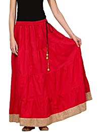 Saadgi Rajasthani Hand Block Printed Handcrafted Pure Rayon Lehnga Skirt For Women/Girls