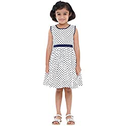 Indiwagon Navy Color Girls Dress
