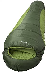 Mountain Warehouse Summit 250 2 3 Season Camping Walking Hiking Festival Outdoors Sleeping Bag Green Left Handed Zip