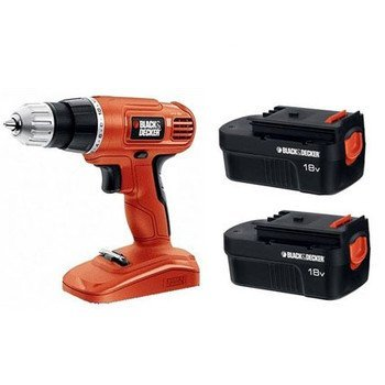 Black & Decker 18V Cordless Power Drill/Driver With 2 Batteries GC018-2