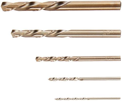 IRWIN Tools 5 Piece Left Hand Cobalt 5/64-Inch to 19/64-Inch Cobalt Twist Drill Bit Assortment (30520) (Screw Extractor Left Hand Drill compare prices)