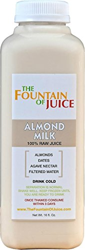 The Fountain of Juice Raw Cold-Pressed No-HPP Almond Nut Milk (8 Pack) (Raw Pressed Juice compare prices)