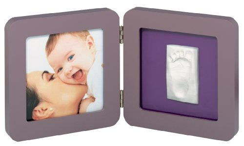 Baby Art 34120051 - Cornice portafoto con impronta della manina o piedino del bebè, rettangolare, colore: Beige