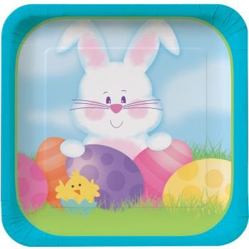 Easter Bunny's 7-inch Paper Plates 8 Per Pack - 1