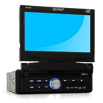 Denver CAT-730 Moniceiver 18cm écran tactile DVD USB SD