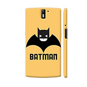 Colorpur Black And White Batman On Yellow Designer Mobile Phone Case Back Cover For OnePlus One | Artist: Designer Chennai