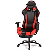 New Gaming RC1 Chair High-back Computer Chair Ergonomic Design Racing Chair (Black & Red)