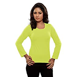 Hbhwear Womens Full Sleeve Round Neck T-Shirts Pale Green