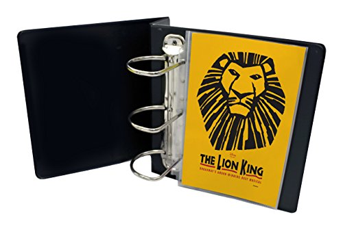 My Broadway Binder: Includes 20 Sheet Protectors, Stylish Broadway Playbill Binder Organizer, 3.5 Spine Holds up to 25 Broadway Playbills, Mini Durable Binder, Black Vinyl with Gold Foil Lettering [+Peso($42.00 c/100gr)] (US.AZ.32.99-0-B07FMG1K1M.361)