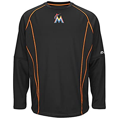 Miami Marlins Black On-Field Practice Pullover by Majestic