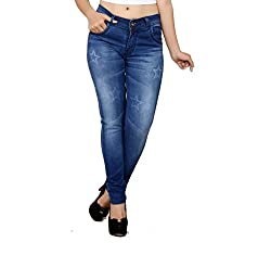 NJ's Women's Denim Slim-fit Jeans (FLI1011-30_Blue)