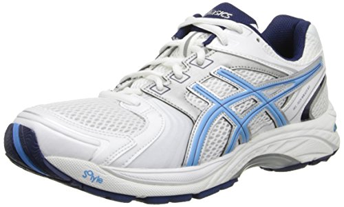 ASICS Women's Gel Tech Neo 4 Walking Shoe,White/Periwinkle/Ink,6 M US
