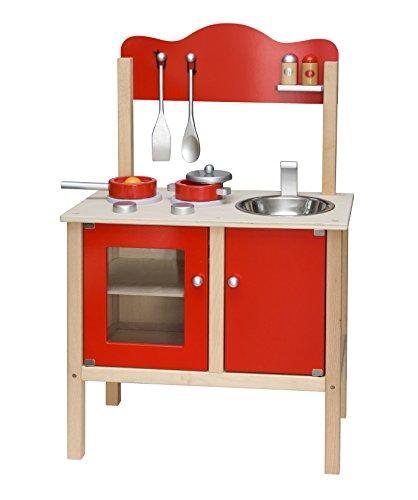 Vigatoys Spielküche rot aus Holz