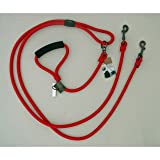 Timberwolf Alpine Rope 2-Dog Lead ~Red~ 5/16