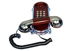 talktel antique look corded landline phone f2 nickel