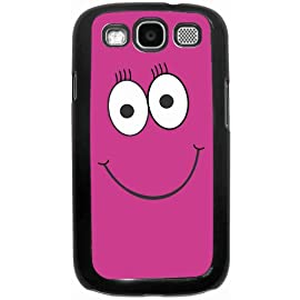 Pink Cheeky Smiley Face Black Hard Case Cover for Samsung Galaxy S3 i9300