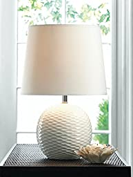 Table Lamps Shade Reading Desk Lamp College Student Living Room Bedroom Contemporary Decor Mainstays