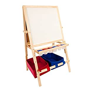 Kids Easel Chalkboard And Dry Erase Easel W