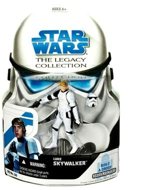 Buy Low Price Hasbro Star Wars Legacy Collection Build-A-Droid Factory Action Figure BD No. 30 Luke Skywalker (Stormtrooper) (B001QKINSE)