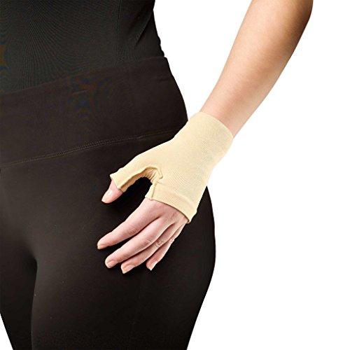 Truform Medical Gauntlet Glove, Firm 20-30 mmHg Compression, post-mastectomy, lymphedema, Beige, Medium (Burn Garment compare prices)