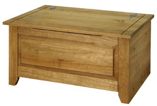 Amalfi Solid Pine Ottoman with Antique Wax