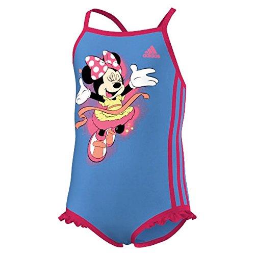 adidas Badeanzug Disney Suit Little Girls - Lucky Blue / Solar Pink - 128