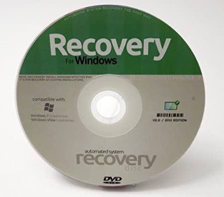 Windows System Recovery Disc / Restore Windows Vista and 7 - Repair PC & Laptop - 32bit/64 bit