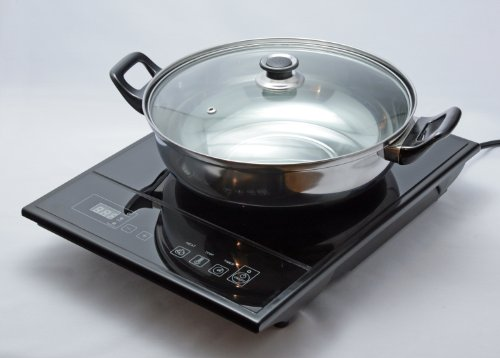 Koolatron TCIS11BNG Cuisini-re - induction totale Chef avec couvercle Pot-
