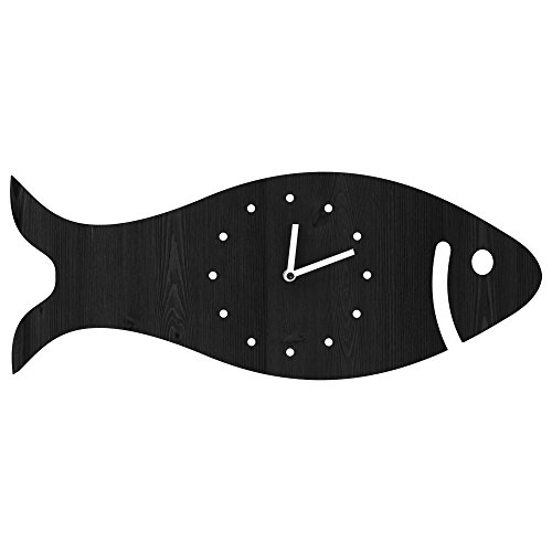Wooden Fish Wall Clock