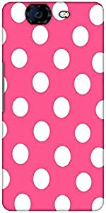 Snoogg Pink Polka Dot Designer Protective Back Case Cover For Micromax Canvas Knight A350