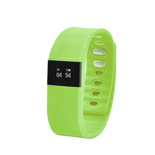 Happy Hours® 2015 Digital Bluetooth IP-X6 Water-resistant Smart Watch Wrist Sports Fitness Bracelet Smartphones Partner Activity Tracker Pedometer Anti-lost For IOS6.1 & above, Android 4.3 & Above [Green]