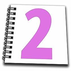 EvaDane - Numbers - 2, Happy 2nd Birthday, Pink - Mini Notepad 4 x 4 inch (db_112250_3)