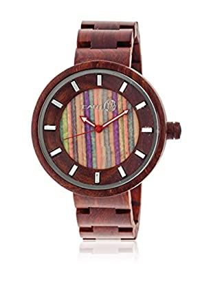 Earth Wood Reloj con movimiento japonés Unisex Earth Root 41.0 mm