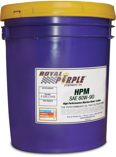royal-purple-11689-hpm-gear-lube-80w90-high-performance-synthetic-marine-gear-lubricant-5-gal