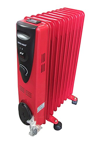 2000w-9-fin-oil-filled-radiator-electrical-caravan-home-office-heater-red