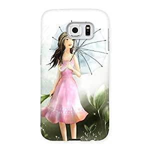 Impressive Umbrella Princess Multicolor Back Case Cover for Samsung Galaxy S6