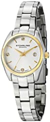 Stuhrling Original Women's 414L.03 Classic Ascot Prime Stainless Steel Bracelet Watch with Gold-Tone…